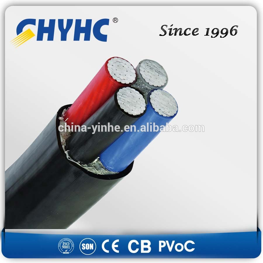 Power Cable 0.6/1kv PVC/XLPE Insulated Sheathed Steel Tape/Wire/AL Wire Armoured Low Voltage triplex aerial cable