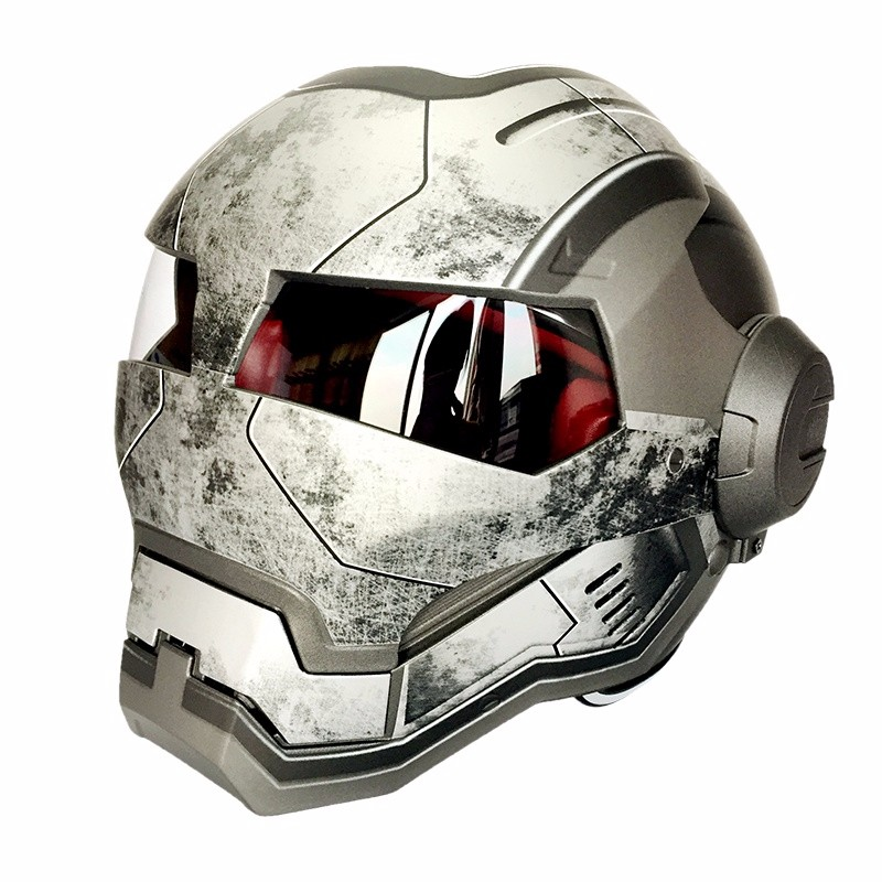 Hot Sales Iron Man Skull Motorcycle Helmet Casco Bike Capacete Masei 610