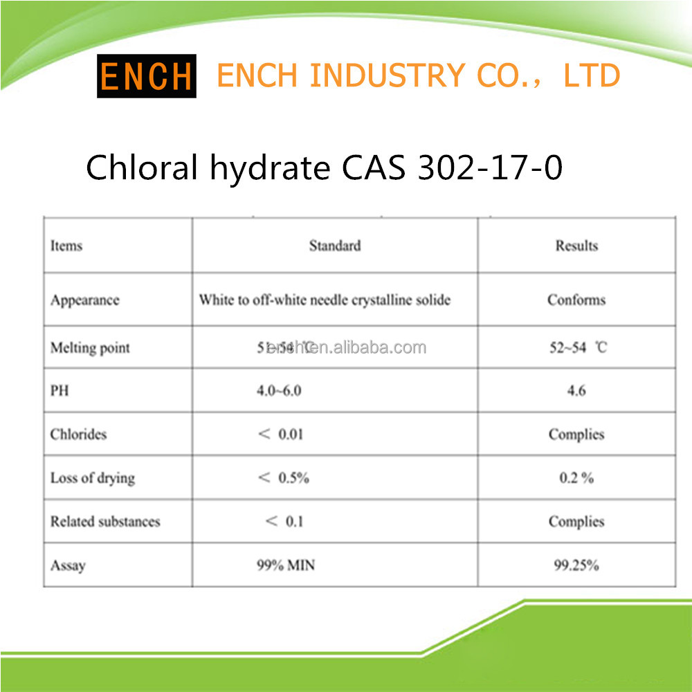 Retail Chloral hydrate CAS 302-17-0 99%