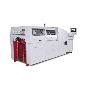 Automatic case lining machine with magnet pasting for collapsible box