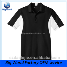 Customized new design sublimation print made men plain polo collar t shirt
