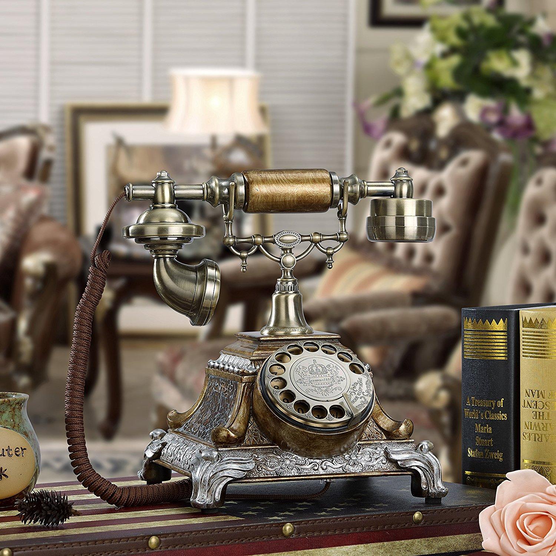 Antique telephone old European retro fashion creative landline landline telephone landline home