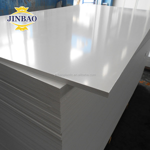 JINBAO 8mm 9mm 10mm foam core board white pvc foam sheet