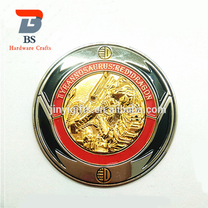Make in China 3D metal delicate luxury gold circle old coin