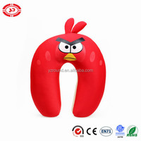 Game red bird game toy kids funny neck support pillow