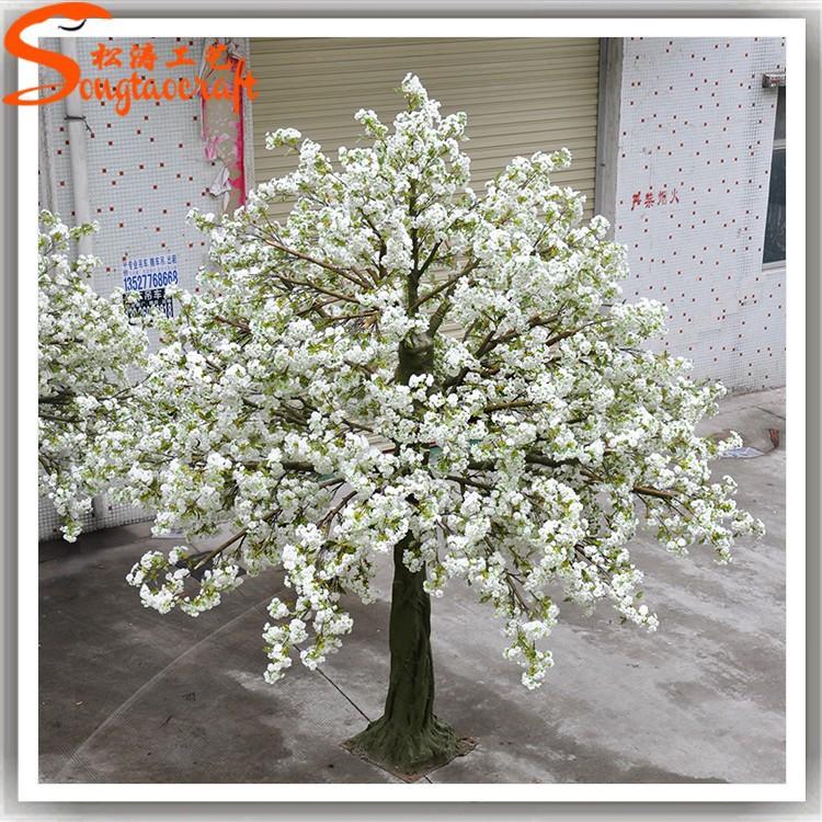 Por artificial rbol de la flor rboles falsos flor blanca for Arbol artificial decoracion
