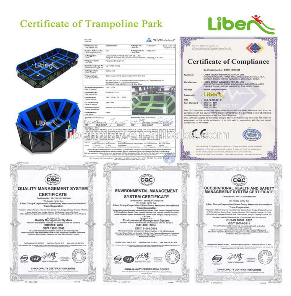 LiBen 5.LE.B8.609.061.01 big ninja course large commercial professional rectangle trampoline