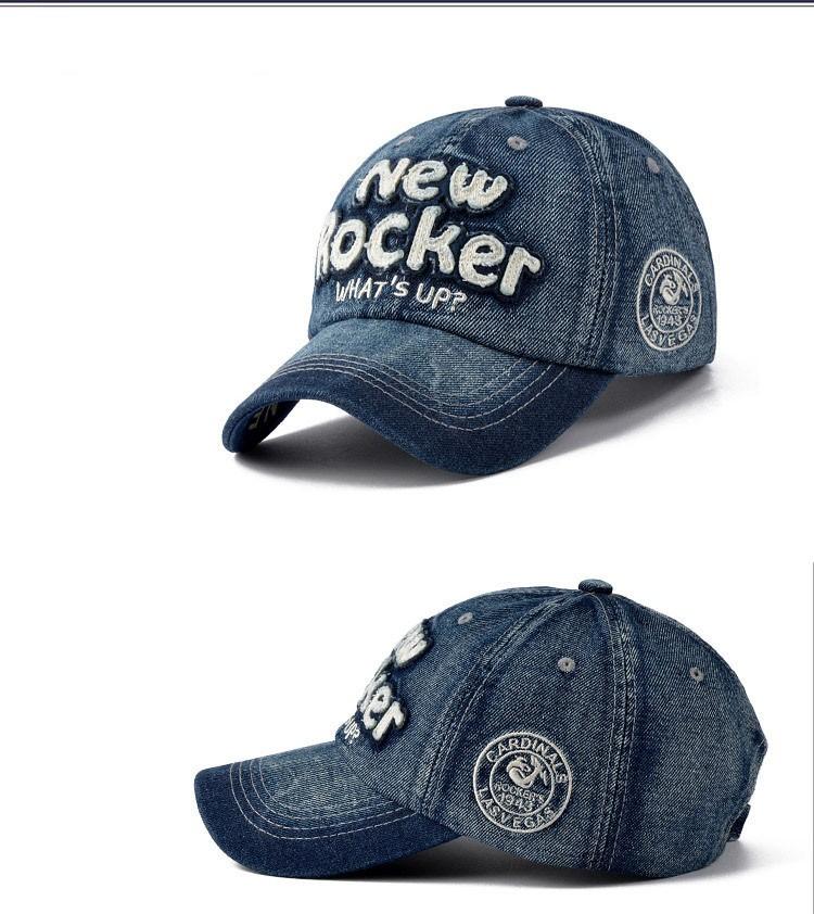 c12c34124 New Arrival Hot Letras Ajustáveis Boné de Beisebol Snapback Caps Para  Homens Mulheres Moda Casual Denim