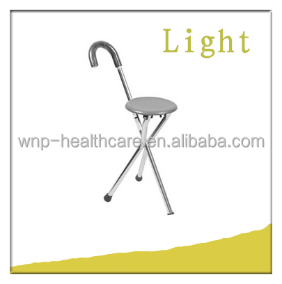 Three legs walking sticks with seat/chair for elderly people