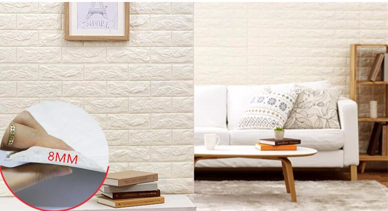 2017 3D Bedroom Living Room Modern Wall Background Brick Pattern Wallpaper Foam 3D wall sticker