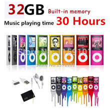 slim 4th gen mp4 player 32GB 9 Colors for choose Music playing time 30Hours fm radio