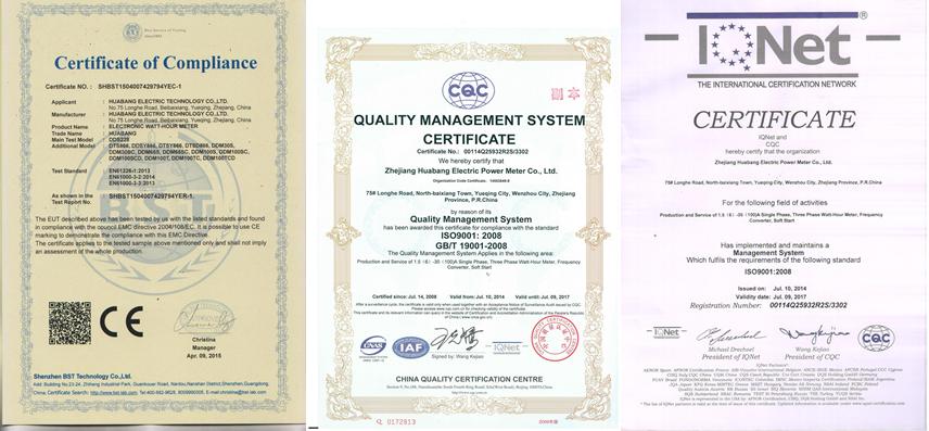 Dds-1y Cqc Three Phase Four Wire Ic Card Electric Kwh Prepaid ...