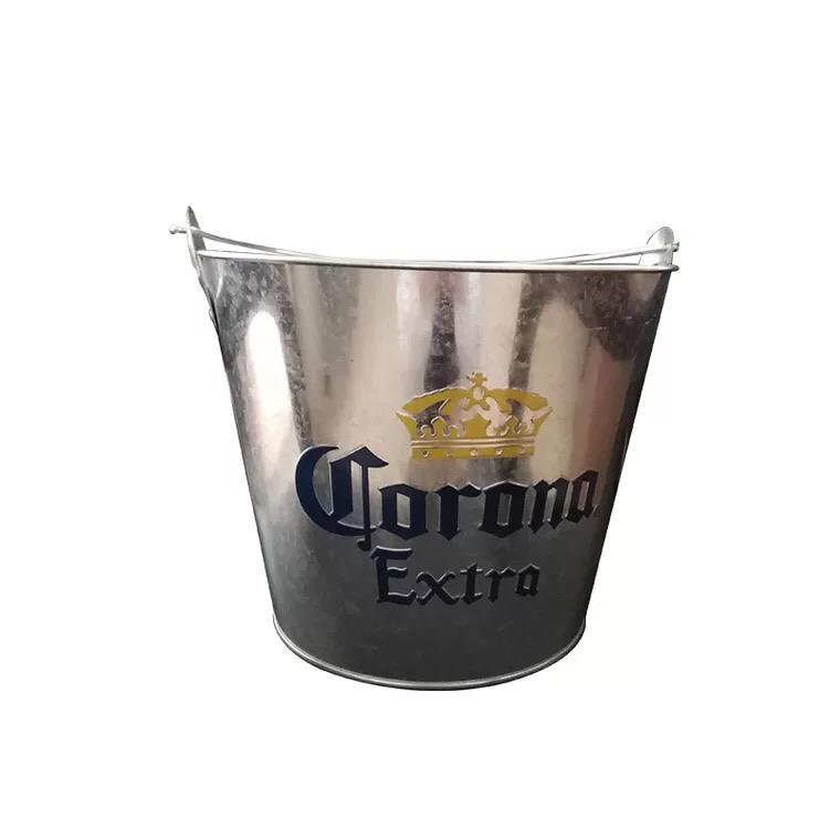 Runde tragbare bar eis eimer bier kühler eis eimer