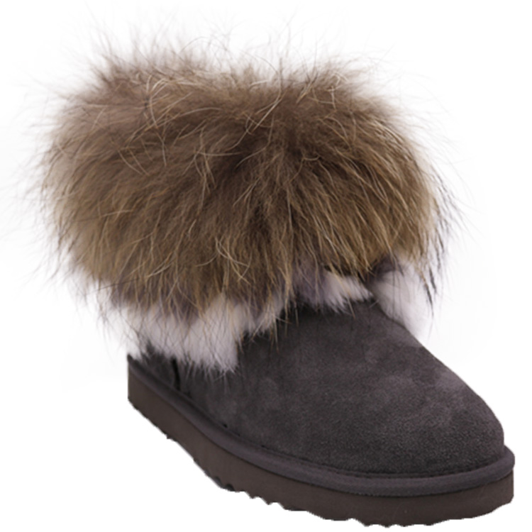 WD841full sheepskin snow boots women leather ladies winter shoes