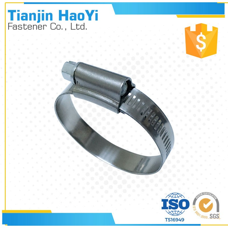 SS304 English type hose tube clamp for mounting bracket