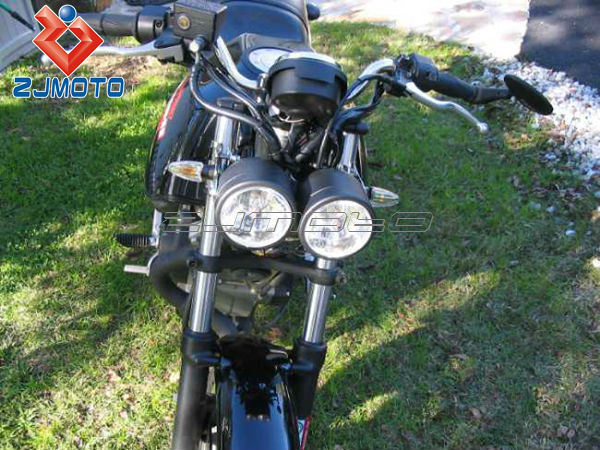 Universal Twin Round Chrome Dominator Motorcycle 4