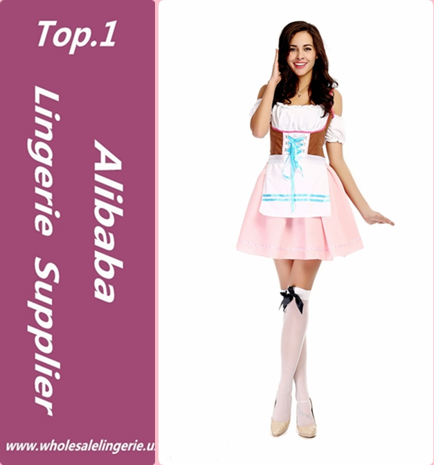 Oktoberfest Beer Maid Fancy Dress Costume high quality 2017 Beer Maid Dress
