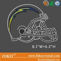 custom rhinestone transfer San Diego Chargers for jersey