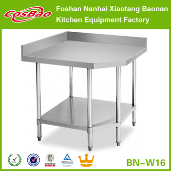 Stainless Steel Corner Table Prep Bench Commercial Kitchen Business ...