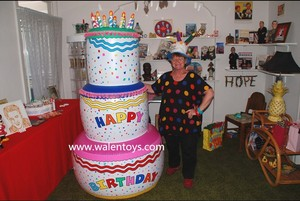 Giant 6 ft. BIRTHDAY CAKE INFLATABLE,Inflatable Happy Birthday Cake