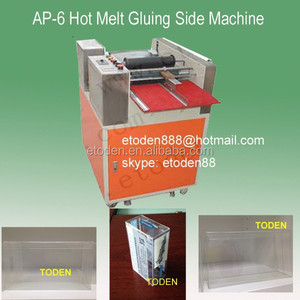 packages boxes gluing hot melt machine