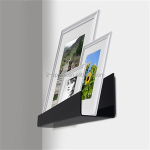 Black Acrylic Wall Picture Ledge Floating Shelf for Picture and Art Display