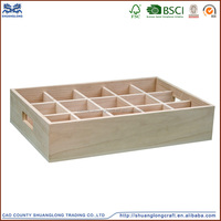 wood products arts and crafts wooden spice compartment boxes without lid