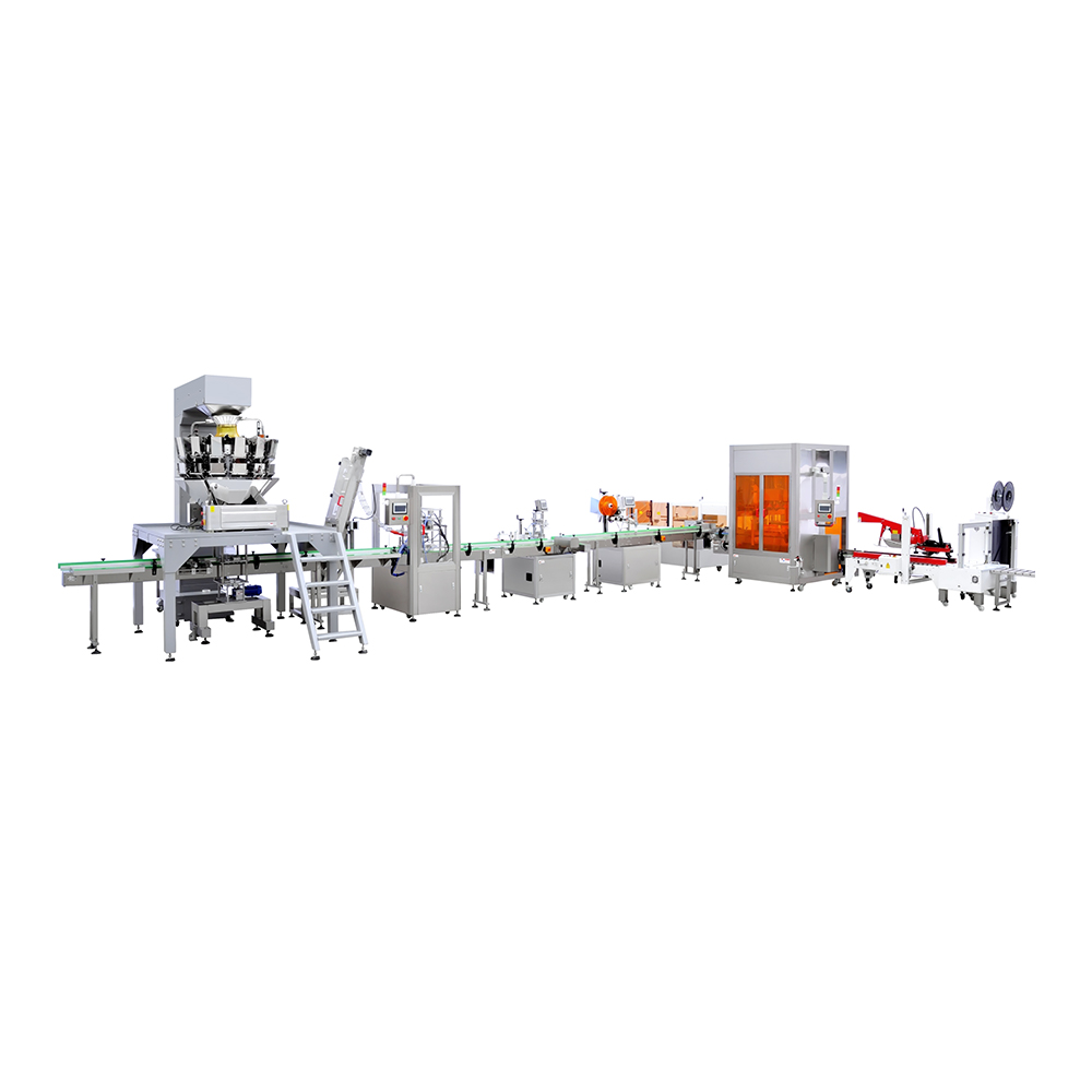 10 Head Automatic Food Weighing Filling Machine Packing Production Line
