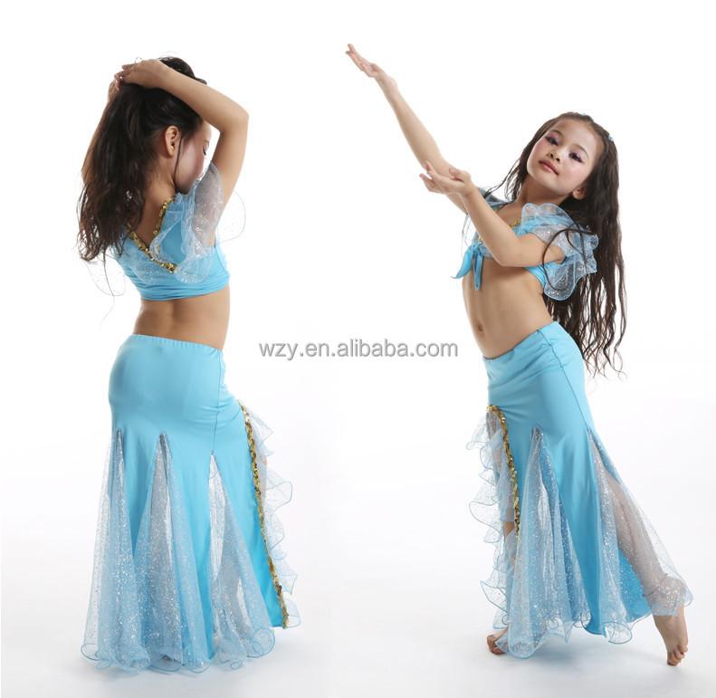 0d69e9c7c Yellow Milk Silk Belly Dance Costume For Kids