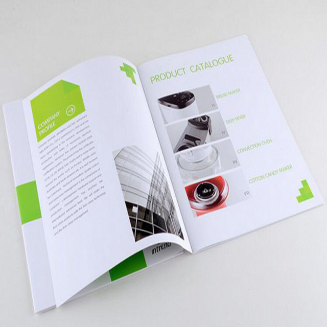 custom pocket printing brochure glossy
