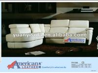 High quality top leather sofa, reclining sofa