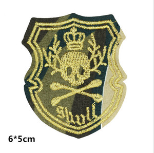 OEM and ODM Welcome Sew-on Applique Patch Hand made Embroidery Gold Bullion Wire Embroidered Blazer Military Cap Badge