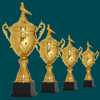 bronze trophy,plastic golf trophy,polyresin sports trophy