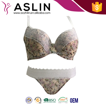cac712c8d0 Fashion Sexy 2018 new style Bra and Panty Set with Nice Printing Charming  Elastic Lace Hot