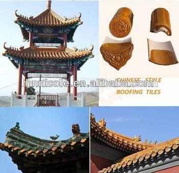 Traditional Chinese Style Building Materials Glazed Roof Tile For ...