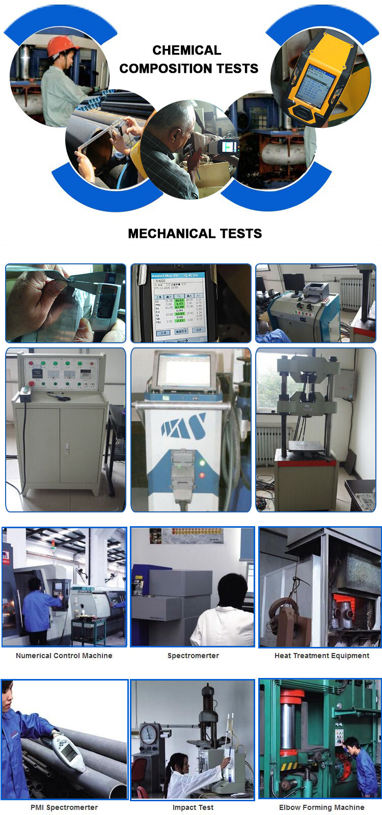 ANSI B16.5 F51 F60 S32205 S31803 Duplex 2205 Stainless steel material  straight plumbing pipe  tube  fitting
