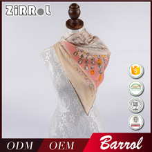 Online shopping Custom design soft Silk satin scarf