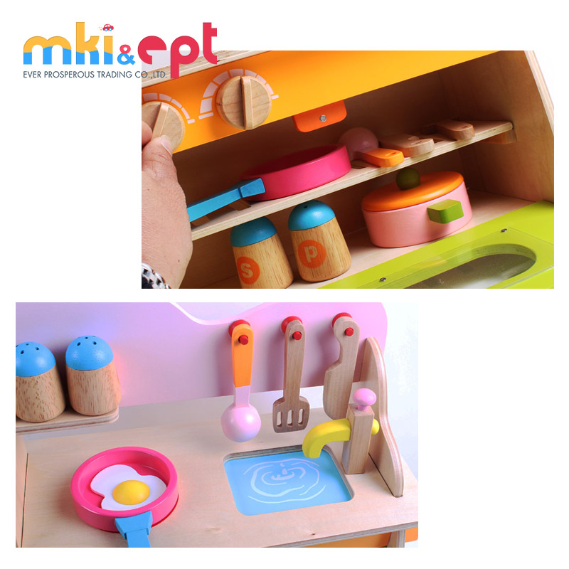 High - Class Pretend Play Toy Wooden Kitchen Set Toys For Kids