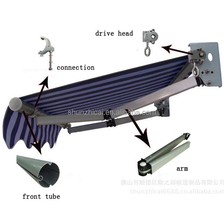 Tenda Kanopi Pintu Besi Manual, Kanopi Jendela Pintu Besi Diy Bisa Ditarik Jarak Jauh Sensor Angin
