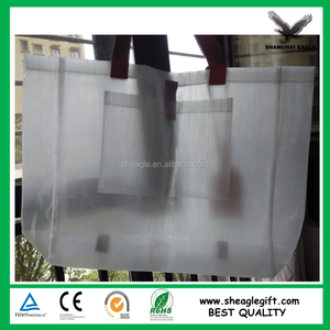 PU Handles Transparent PP Woven Bags Customized
