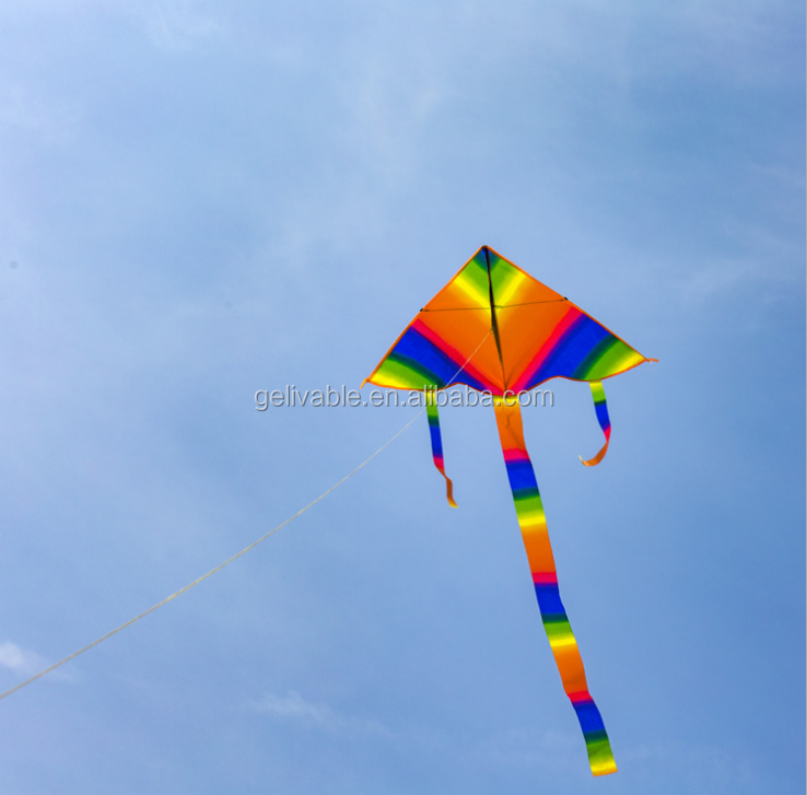 Chinese  triangle cheap small rainbow wind kite