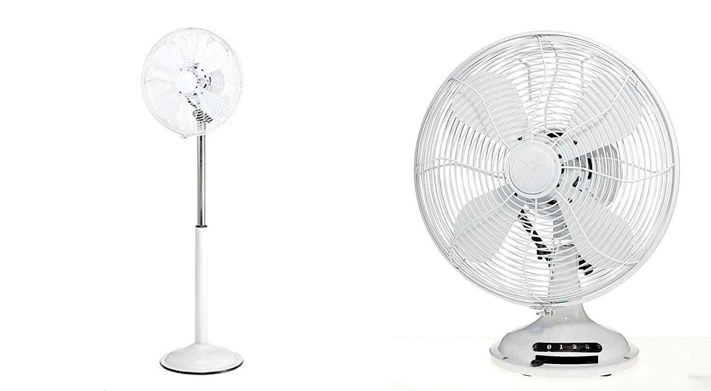 White Vosarea Portable Mini 3 Levels of Wind Speed USB Fan Battery Powered Rechargeable Adjustable Desk Fan Pivoting Fan