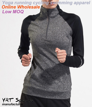 Design Your Own Long Sleeve Shirt | Low Moq Design Your Own Womens Half Zip Pullover Long Sleeved