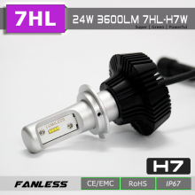 HOTSELL 3800 lumen high power auto led light H7 bulbs
