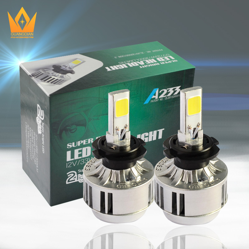 New arrive A223 super bright 33w led cob headlight 9006 led car headlight