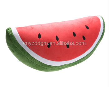 Free Sample 40cm 60cm Soft Plush Watermelon Pillows Baby Cute Cartoon Toys 3D  Fruit Pillows 6fb65a313e36
