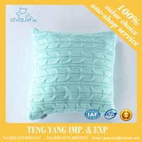 Modern China made various color knitted cushion flocking square shape cushion cover