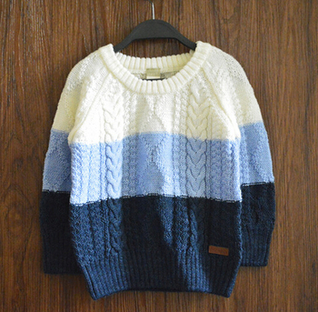 Hot Sale Knitting Patterns Winter Pullover 100 Cotton Boys Sweater