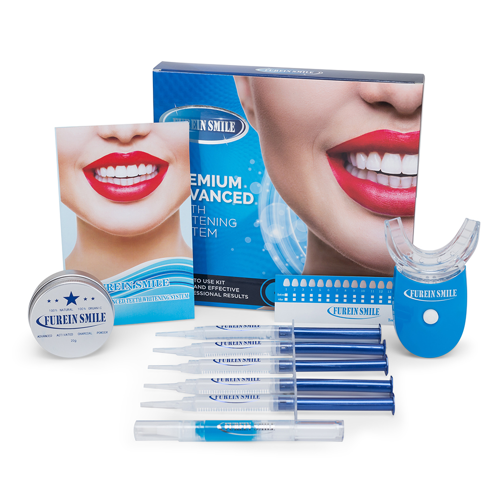 Helderder Wit tanden whitening kit met led licht en gels private label