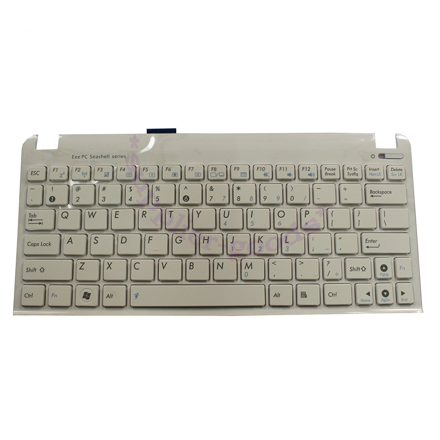 YEECHUN White US Keyboard for Asus Eee PC 1015P 1015PN 1015PE 1015PEM 1015PB 1015tx 1025C 1025CE 1016 1016P 1016PG 1016PT Series New Notebook Replacement Accessories